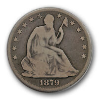 1879 50C LIBERTY SEATED HALF DOLLAR GOOD VG LOW MINTAGE R900