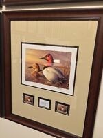 FRAMED DUCK STAMP PRINT FRAMES CUSTOM MATTED TO FIT YOUR PRINT AND STAMPS SALE