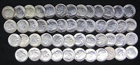 1953 ROOSEVELT DIMES CHOICE BU BRILLIANT UNCIRCULATED 49 SILVER COINS