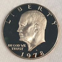 1978 S EISENHOWER IKE DOLLAR CLAD PROOF   HIGH QUALITY SCANS B624