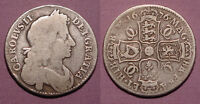 1676 KING CHARLES II SILVER HALF CROWN   UNLISTED ERRORS R OVER B