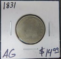 1831 ALMOST GOOD   CAPPED BUST DIME   GOOD COIN   AG
