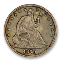 1879 50C LIBERTY SEATED HALF DOLLAR PCGS VF 35 FINE KEY DATE