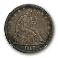 1885 SEATED LIBERTY HALF DOLLAR NGC VF 25 FINE CAC APPROVED