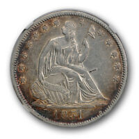 1851 LIBERTY SEATED HALF DOLLAR NGC AU ABOUT UNCIRCULATED DETAILS KEY DATE