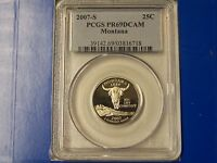 2007 S MONTANA STATE QUARTER DOLLAR PCGS PR69DCAM     IN THE US