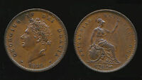 1826 REVERSE B   GEORGE IV PENNY   THIN LINE.VERY FAST POST