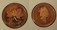 1994 CANADA FROSTED ONE CENT PENNY PROOF