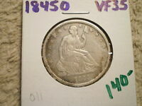 1845 O SEATED LIBERTY HALF DOLLAR/ OUTSTANDING BARGAIN