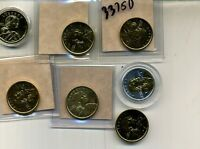 2000 2009 NATIVE AMERICAN DOLLAR GOLD COLORIZED LOT OF 7