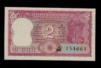 INDIA 2  RUPEES   1970    V/82  PICK  53A  AU UNC  W/H BANKNOTE.