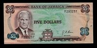 JAMAICA 5  DOLLARS   1970   F  PICK  56  VF XF BANKNOTE.