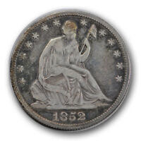 1852 O LIBERTY SEATED HALF DOLLAR FINE TO EXTRA FINE NEW ORLEANS R1288