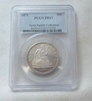 1871 LIBERTY SEATED SILVER HALF $ SLABBED PCGS PROOF 63 TEICH FAMILY COLLECTION