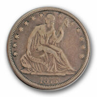 1875 CC 50C LIBERTY SEATED HALF DOLLAR FINE TO EXTRA FINE CARSON CITY R1349
