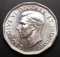 1945 CANADA 5 CENTS NICKEL CHOICE BU FREE COMBINED SHIPPING
