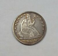 1854 O LIBERTY SEATED HALF DOLLAR W/ ARROWS AT THE DATE EXTRA FINE SILVER 50C