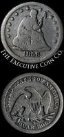 1856 S SEATED LIBERTY QUARTER VG DETAIL DECENT EYE APPEAL