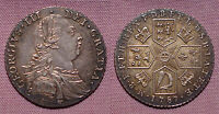 1787 KING GEORGE III SHILLING   TOP GRADE   NO HEARTS