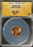 1944 DDO MS65 RD LINCOLN CENT DOUBLED DIE GEM 836 WHEAT PENNY ERROR SHIPS FREE