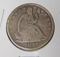 1847 O SEATED LIBERTY HALF DOLLAR G/VG CONDITION NEW ORLEANS MINT 10716