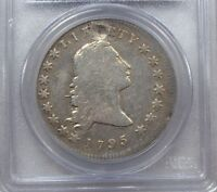 PCGS GENUINE 1795 FLOWING HAIR B 1 BB 21 2 LEAVES FINE DETAILS SILVER DOLLAR