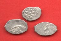 RUSSIA LOT OF 3 COINS ALEXEY MICHAILOVICH1645 1676 WIRE COPECK  F 435