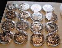 16 PIECES MIX COMMEMORATIVE SOLID BRONZE MEDAL HISTORICAL EVENTS FROM 1700/ 1900