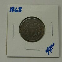 1868 - TWO CENT PIECE -022