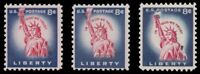 1041 1041B 1042 STATUE OF LIBERTY 8C ISSUE REISSUE VARIETY SET 3 MNH   BUY NOW