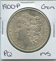 1900 P MORGAN DOLLAR UNCIRCULATED US MINT GEM PQ SILVER COIN UNC MS