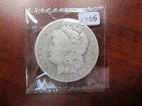 1900 O MORGAN SILVER DOLLAR COIN GOOD DETAILS NICELY CLEANED GRADE VG ITEM1786