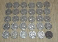 LOT OF 30 JEFFERSON NICKELS DATED 1958 D