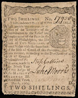 COLONIAL CURRENCY PA MAR. 10 1769 2S. EMPLOYMENT OF THE POOR IN PHILADELPHIA