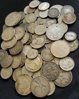 WORLD SILVER COINS FROM HUGE HOARD  OLD ANTIQUE COINS MONEY  1 COIN