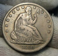 1868S SEATED LIBERTY HALF DOLLAR 50 CENTS. SEMI KEY DATE  4154
