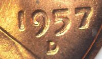 1957 D/D DUAL ERRORS DDO LINCOLN CENT  PENNY 825 MS65 RD D/D & DOUBLED DIE