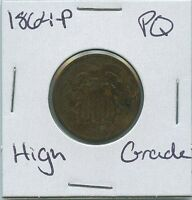 1864-P TWO CENT SHIELD US MINT COIN PQ HIGH GRADE