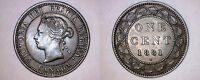 1881 H CANADA 1 LARGE CENT WORLD COIN   CANADA