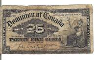 DOMINION OF CANADA 25 CENTS  1900  OUT OF REGISTER ERROR