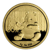2017 CHINA GOLD PANDA  3 G  50 YUAN   BU   MINT SEALED