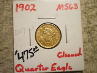 1902 $2 1/2 LIBERTY GOLD/ BARGAIN PRICED/ CLEANED