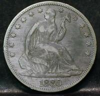 1880 LIBERTY SEATED HALF DOLLAR IDPP430