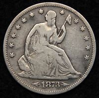 1873S SEATED LIBERTY HALF DOLLAR 50 CENTS.  KEY DATE ONLY 228,000 5289