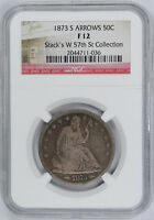 1873 S ARROWS SEATED LIBERTY HALF DOLLAR 50C NGC F 12 FINE TOUGH DATE