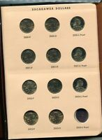 2000   2003 P D S NATIVE AMERICAN DOLLAR FULL 11 COIN SET BU  PR W/ ALBUM 7270H