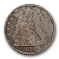 1850 O 50C LIBERTY SEATED HALF DOLLAR EXTRA FINE XF NEW ORLEANS R1418
