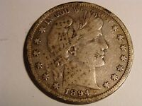 1894 BARBER HALF DOLLAR   GOOD