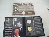 SET OF THREE JFK KENNEDY HALF DOLLARS BICENTENNIAL 1964 AND 2013 GOLD PLATED
