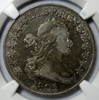 1803 DRAPED BUST HALF DOLLAR  NGC VF30  SMALL 3  O-104  GREAT EARLY TYPE